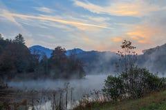 Wschód słońca jezioro Santeetlah Zdjęcie Royalty Free