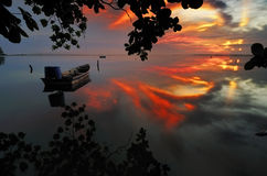 Wschód słońca Jubakar Tumpat Zdjęcia Royalty Free