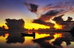 Wschód słońca Jubakar Tumpat Obrazy Stock
