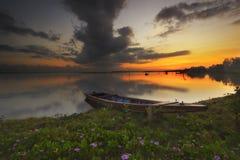 Wschód słońca Jubakar Tumpat Fotografia Royalty Free