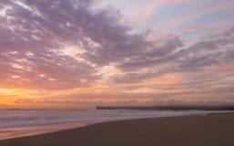 Wschód słońca & kipiel Zdjęcie Royalty Free