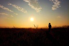 Wschód słońca melodia fotografia royalty free