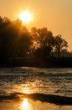 wschód słońca mgłowy krajobrazowy lato światła słonecznego wschód słońca obrazy stock