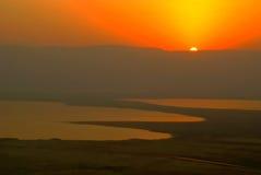 wschód słońca morza martwego Obraz Royalty Free