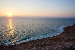 wschód słońca morza martwego Zdjęcia Royalty Free