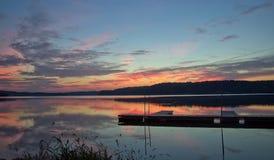 Wschód słońca na Atwood jeziorze Ohio Obraz Royalty Free