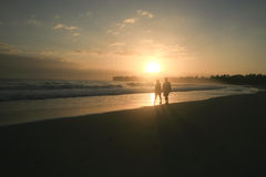 Wschód słońca na Cabarete zatoce, DR obrazy stock