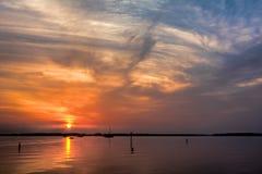 Wschód słońca na Chesapeake zatoce Zdjęcia Stock