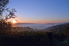 Wschód słońca na Dartmoor zdjęcie stock