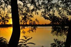 Wschód słońca na Dniper zdjęcie royalty free