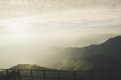Wschód słońca na górach Zdjęcia Royalty Free