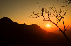 Wschód słońca na górze Obrazy Royalty Free