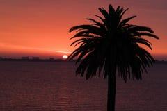Wschód słońca na Indiańskiej Rzecznej lagunie Zdjęcia Stock