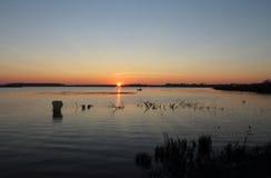 Wschód słońca na jeziorze Obrazy Stock