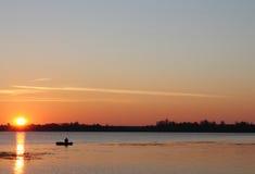 Wschód słońca na jeziorze Zdjęcia Stock