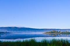 Wschód słońca na jeziorze przy wangnahmyen Fotografia Royalty Free