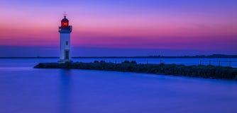 Wschód słońca na latarni morskiej Obrazy Stock