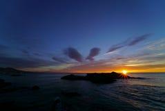 Wschód słońca na Mijas Fotografia Royalty Free