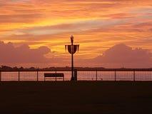 Wschód słońca na Neuse rzece obrazy stock