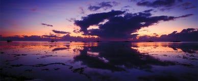 wschód słońca na oceanie indyjskim Obrazy Royalty Free