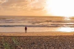 Wschód słońca na oceanie zdjęcie royalty free