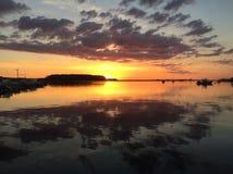 Wschód słońca na Północnej rzece Obraz Royalty Free