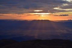 Wschód słońca na pierwszy dniu rok obraz royalty free