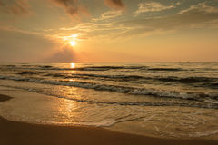Wschód słońca na Plażowym Portowym Aransas Teksas Fotografia Stock