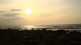 wschód słońca na plaży zbiory