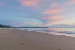 Wschód słońca na plaży Fotografia Royalty Free