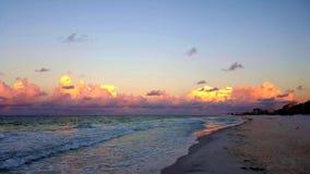 wschód słońca na plaży Fotografia Stock