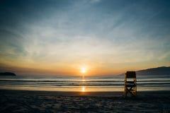 Wschód słońca na plaży Indaià ¡ zdjęcie royalty free
