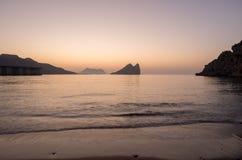 Wschód słońca na plaży w Aguilas, Murcia Obraz Royalty Free