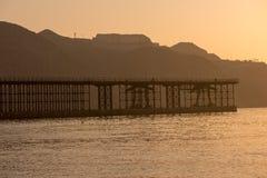 Wschód słońca na plaży w Aguilas, Murcia Zdjęcie Stock