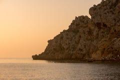 Wschód słońca na plaży w Aguilas, Murcia Zdjęcia Royalty Free
