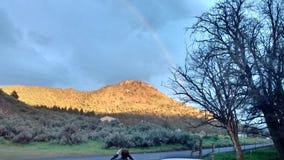 Wschód słońca na popiółu Butte centrali Oregon obraz royalty free