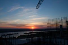 Wschód słońca na rzece Fotografia Royalty Free