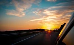 Wschód słońca na sposobie Zdjęcia Royalty Free