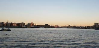 Wschód słońca na Thames obrazy royalty free