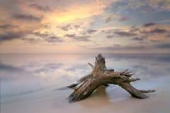 Wschód słońca na wodzie Fotografia Stock