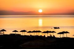 Wschód słońca na wyspie Rhodes Zdjęcia Stock