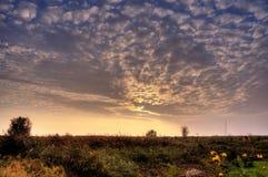 Wschód słońca na zatoce Ahrenshoop Obraz Stock