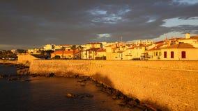 Wschód słońca nad Antibes, Francja obraz stock