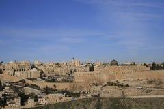 Wschód słońca nad antycznym Jerozolima Obrazy Royalty Free