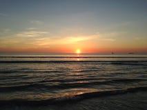 Wschód słońca nad Atlantyk ocean Zdjęcia Royalty Free