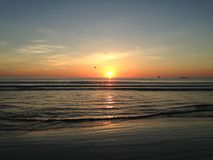 Wschód słońca nad Atlantyk ocean Obraz Royalty Free
