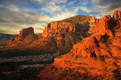 Wschód słońca Nad Bell skałą, AZ Obraz Royalty Free