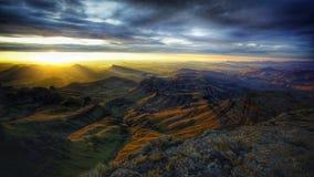 Wschód słońca nad doliną Obraz Stock