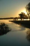 wschód słońca nad drzewami Obrazy Royalty Free