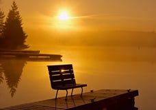 Wschód słońca nad frajerem Zdjęcie Royalty Free